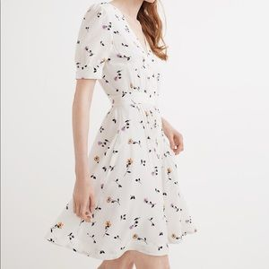 Daylily Pintuck Dress in Sweet Blossoms